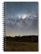 Milky Way Over A Farm Shed Spiral Notebook