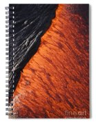 Molten Pahoehoe Lava Spiral Notebook
