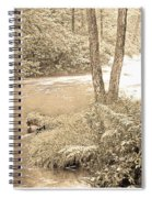 Mud Run Pocono Mountain Stream Pennsylvania Spiral Notebook