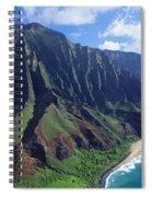 Na Pali Coast Aerial Spiral Notebook