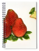4... No... 3 Strawberries Spiral Notebook