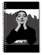 Opera Singer Maria Callas No Date-2010 Spiral Notebook