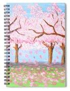 Pink Garden, Oil Painting Spiral Notebook