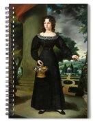 Portrait Of A Young Lady With Flower Basket Spiral Notebook