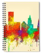 Providence Rhode Island Skyline Spiral Notebook