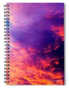 Red Cloudscape At Sunset. Spiral Notebook