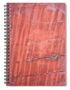 Red Metal  Spiral Notebook