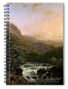 River In The Ardennes At Sunset Spiral Notebook