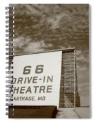 Route 66 Drive-in Theatre Spiral Notebook