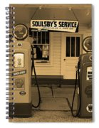 Route 66 - Soulsby Station Pumps Spiral Notebook