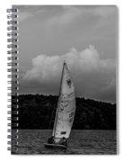 Sail Boat On Large Lake Spiral Notebook