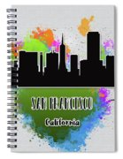 San Francisco Skyline Silhouette Spiral Notebook
