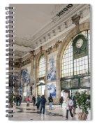 Sao Bento Railway Station Landmark Interior In Porto Portugal Spiral Notebook