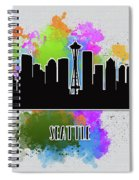 Seattle Skyline Silhouette Spiral Notebook