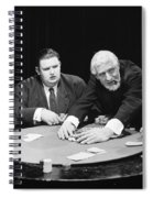 Silent Film Still: Gambling Spiral Notebook