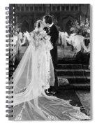 Silent Film Still: Wedding Spiral Notebook