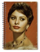 Sophia Loren, Vintage Actress Spiral Notebook