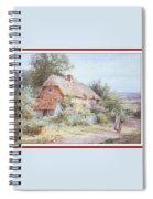 Stannardhenryjohnsylvester Girllookingatacottage-we F018 Henry  Sylvester Stannard Spiral Notebook