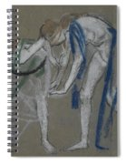 Study Of Two Dancers Spiral Notebook