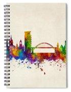 Sunderland England Skyline Spiral Notebook