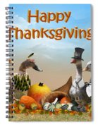 Thanksgiving Ducks Spiral Notebook