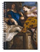 The Burial Of Christ Spiral Notebook