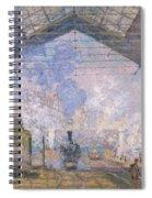 The Gare St Lazare Spiral Notebook