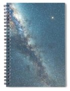 The Milky Way And Mars Spiral Notebook