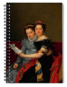 The Sisters Zenaide And Charlotte Bonaparte Spiral Notebook