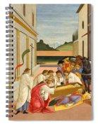 Three Miracles Of Saint Zenobius Spiral Notebook