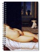 Venus Of Urbino Spiral Notebook