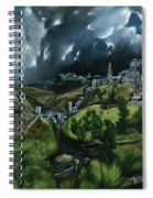 View Of Toledo Spiral Notebook