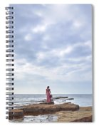 Walking Into The Sea Spiral Notebook