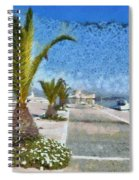 Walkway In Nafplio Town Spiral Notebook