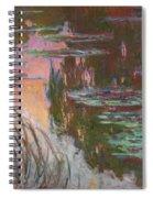 Water Lilies, Setting Sun Spiral Notebook