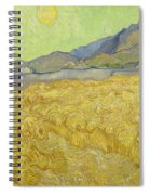 Wheatfield With A Reaper Spiral Notebook
