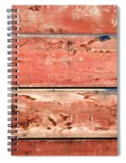 Wood Background With Faded Red Paint Spiral Notebook