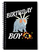 4 Years Old Birthday Design Dinosuar Shirt Spiral Notebook