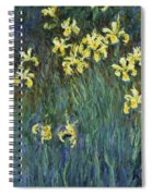 Yellow Irises Spiral Notebook
