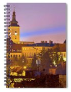 Zagreb Historic Upper Town Night View Spiral Notebook