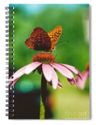 #416 14a Butterfly Fritillary, Coneflower Lunch Break Good Till The Last Drop Spiral Notebook