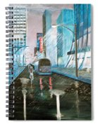 42nd Street Blue Spiral Notebook
