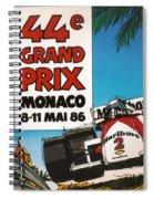44th Monaco Grand Prix 1986 Spiral Notebook