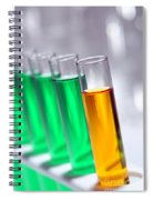 Test Tubes In Science Research Lab Spiral Notebook