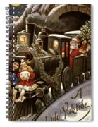American Christmas Card Spiral Notebook