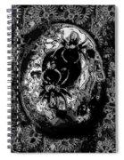 Abstract Orgone Spiral Notebook