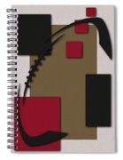 49ers Football Art Spiral Notebook