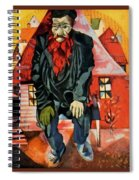 4dpictdfy Marc Chagall Spiral Notebook