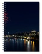 4th Of July Fireworks At Portland Waterfront 2016 Spiral Notebook