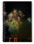 4th Of July Fireworks From The Barge Portland Oregon Spiral Notebook